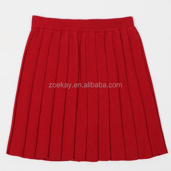 School Uniform Facory Japanese High School Uniform Sweater Knitted Pleated Skirt Solid Color