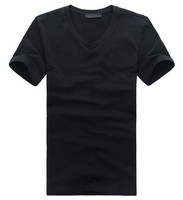 Wholesale custom v neck short sleeve t shirt high quality famous brand name t shirts for men