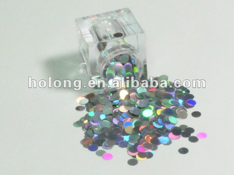 4mm Round Circles Laser Color Glitter Powder