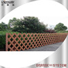 Wood Color Pvc Decorative Fence Wpc