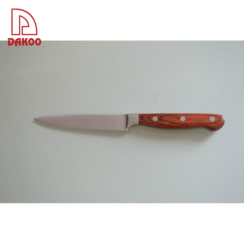 5'' Pakka wood + <strong>Forged</strong> Handle <strong>Utility</strong> Knife with Classic Design