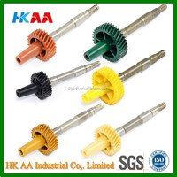 plastic gears and shaft, custom gears and shaft