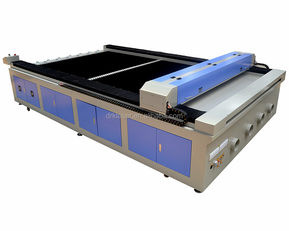 bed type 1318 1325 1530 CO2 laser engraving machine for jeans cloths and fabric