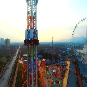 2018 China ecxiting free fall tower drop rides for sale in cheap price