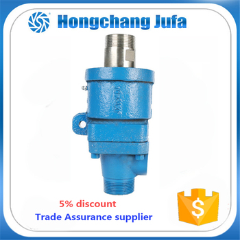 25A 1'' 2-passages female thread water swivel connector hydraulic rotary joints