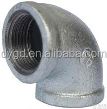 New Factory high quality Elbow galvanized Malleable Cast Iron female threaded pipe fitting
