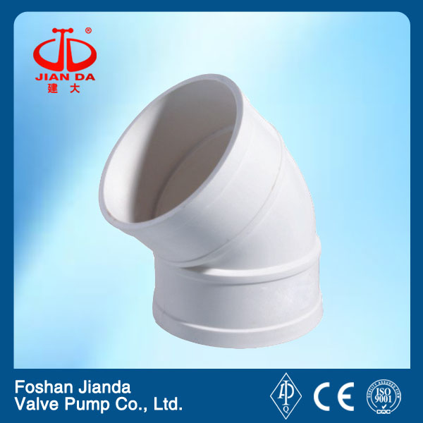 pipe fitting PVC 45 degree elbow