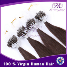 Golden Supplier Indian Hair Company Exporter 100% Unprocessed Indian Micro Ring Loop Human Hair Extensions