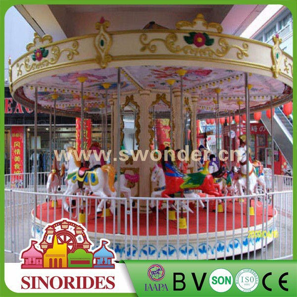Interesting theme park rides carousel horse fairground rides carousel for sale