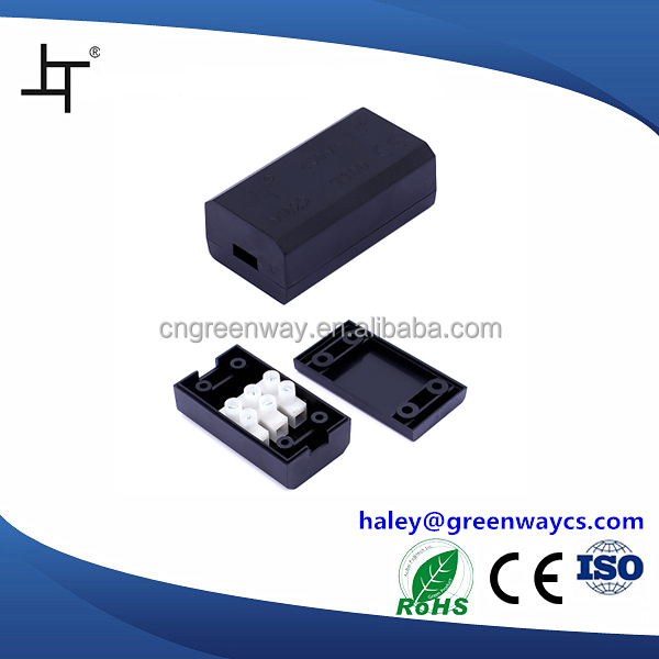 rectangular plastic junction box for electronic device 0.5~1.5 cross section mini decorative junction box