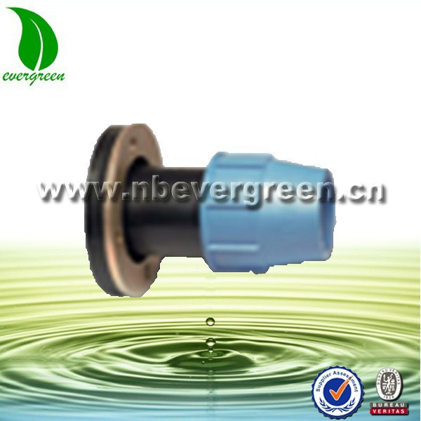 7212 PE fitting flange compression connector for water pipes