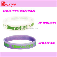 Technical temperature changing color silicone bracelet