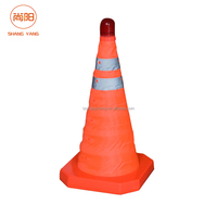 High Quality Collapsible Cones Retractable Road Traffic Safety Cone