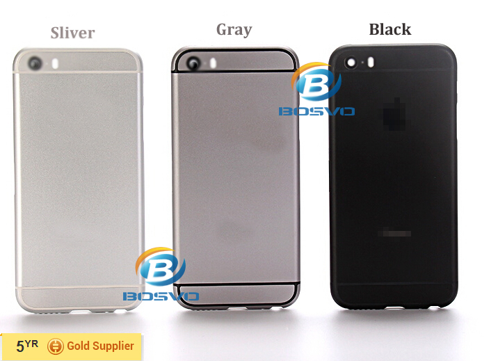 mobile phone back rear housing for iphone 5s like 6 mini for iphone5s battery door cover case replacement parts