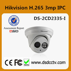 DS-2CD3345-I Hikvision H.265 4MP IP camera support poe and audio