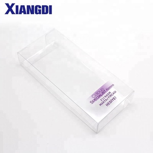Eco-friendly Clear Transparent Plastic Printing Folding PET box PVC hanger in Packaging boxes custom logo for cosmetic