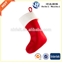 Hot sale fancy felt Christmas sock/wholesale christmas stocking