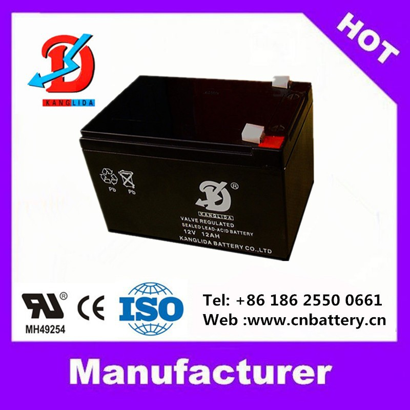 12v UPS battery 12v12ah deep cycle battery for canteen vending machine manufucturer in China