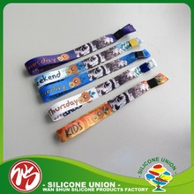 Beautiful Festival Fabric Wristbands Sublimation Custom Wristbands for Events