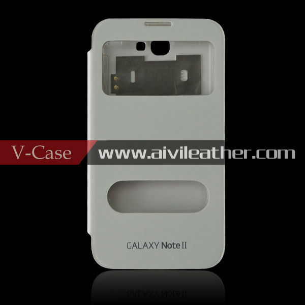 For Samsung Galaxy Note2 N7100 battery flip leather case, for Galaxy Note2 N7100 battery flip cover