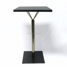 Commercial high Pub table with metal top, outdoor metal bar table