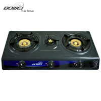 Mid-East Hot Sell 3 Burner Buner Caps Gas Hobs Table Gas Stove with Super Blue Flame