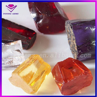 Wuzhou Uncut Rough Cubic Zirconia Gemstone All Colors Loose Stone Material
