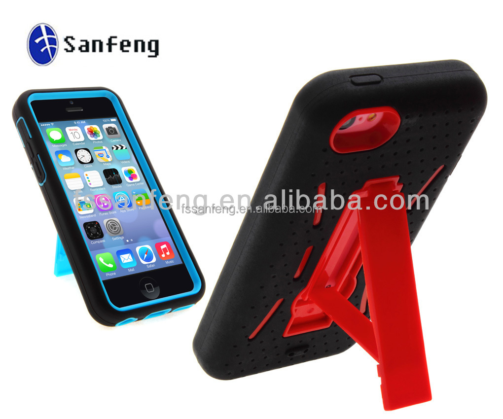 Fit For Iphone5 c Stylish Design Kickstand Robot Phone Case, Hot Selling Case for iphone5c