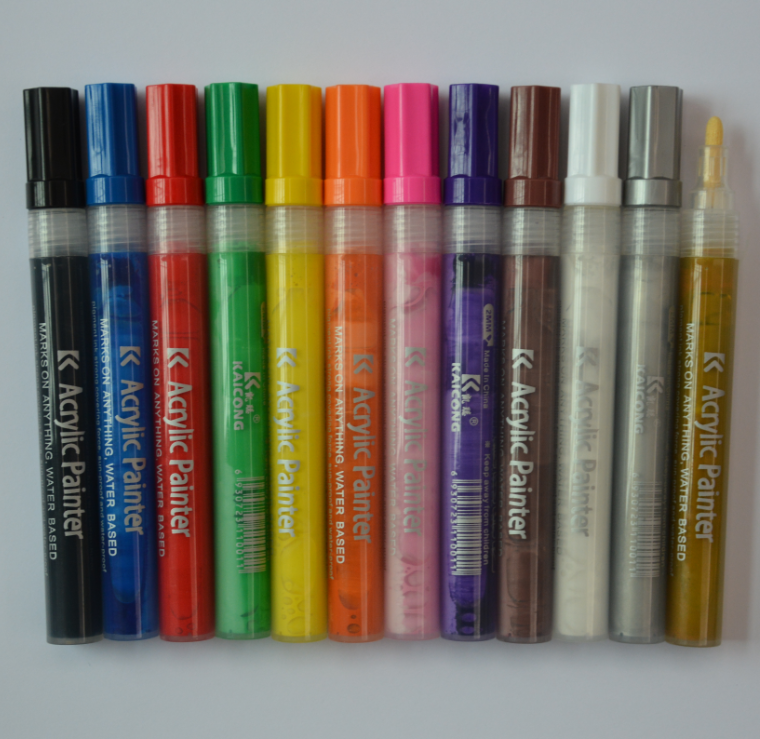 Acrylic marker water-based pigment medium point tip iPOSCA paint marker Acrylic paint marker
