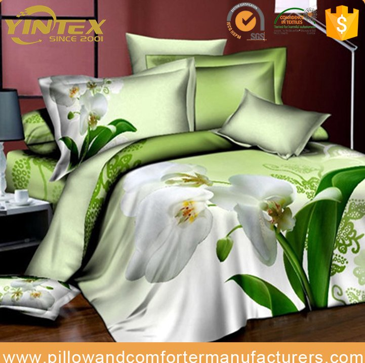 Custom printed wholesale king size 3d bedding set