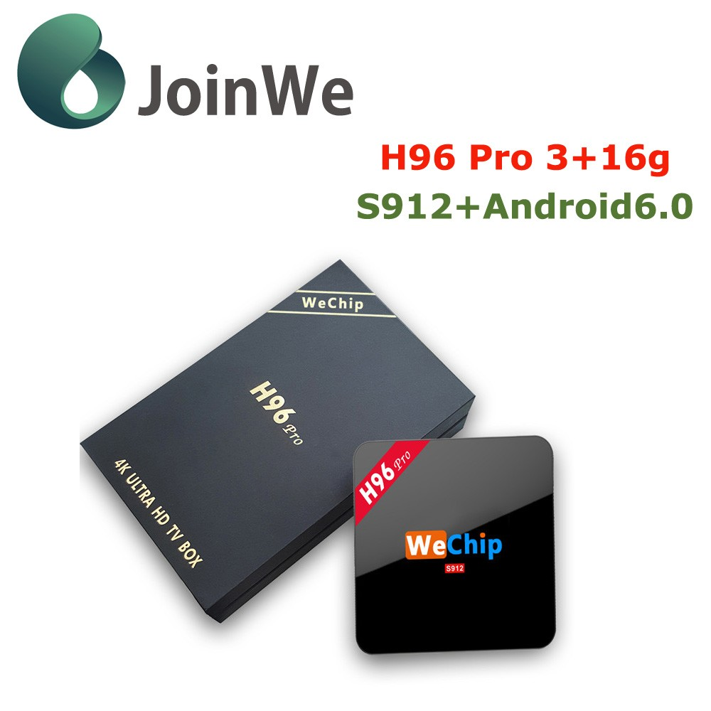 Wechip Cheapest Price Surerior Quality Amlogic S912 Octa Core H96pro Open Set Top Box