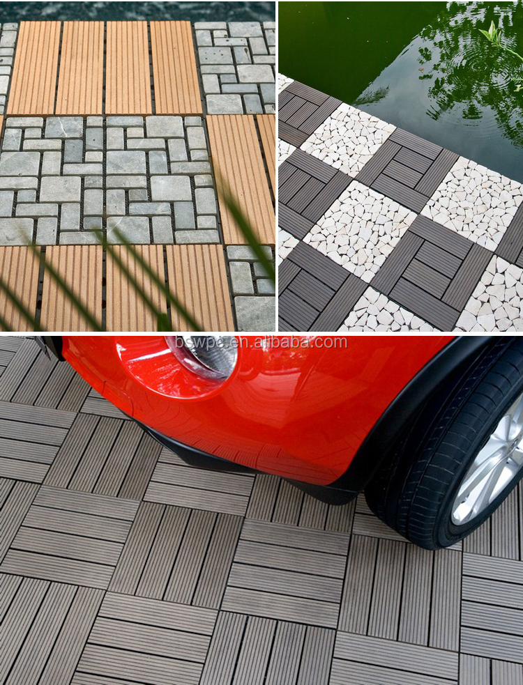 Outdoor reclaimed flooring wpc decking interlocking for Terrace board
