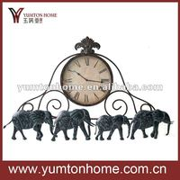 Elephant Home Decoration Antique Clock