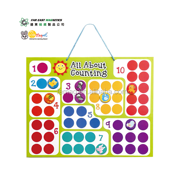 ODM Top Quality Education ASTM Wall-Hanging Colorful All about counting Magnetic Chart For kid