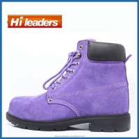 New design fashionable purple color safety footwear/ work boots for woker