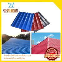 ISO certificate color coated corrugated asa pvc synthetic resin roof tile