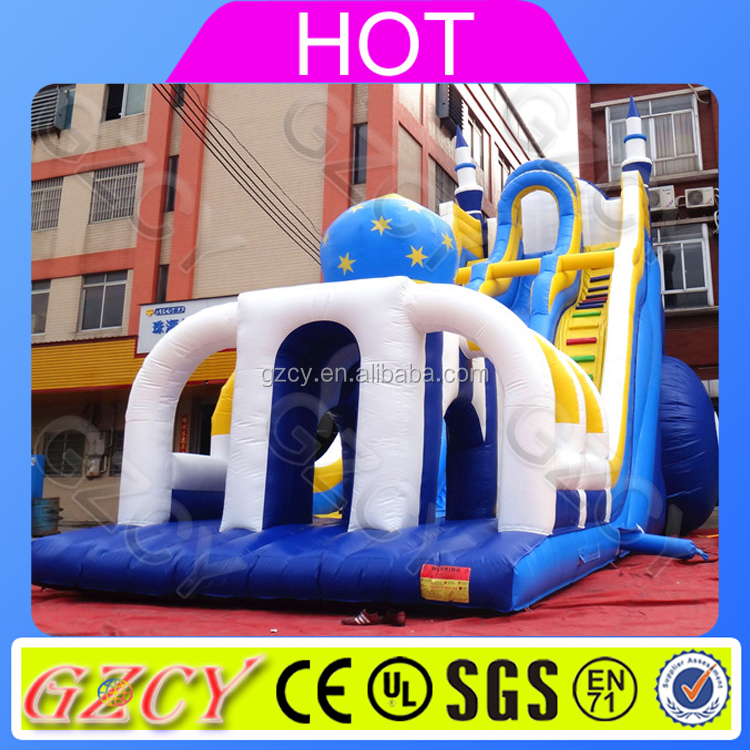 New Manufacturing 2017! Guangzhou Amusement Play Equipment Inflatable Large Outdoor Slide For Park