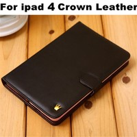 Hot Sale Crown Fashion Smart Cover Stand PU Leather Case For Ipad 4 3 2 With Buckle