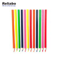 Reliabo Promotional Christmas Children Gift 12 Color Lead Art Drawing Wooden Pencils