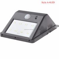 solar panel lights 0.8W 8LED 80LM 6000-6500K Solar Motion Sensor Garden Light