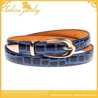 Endless Flat Crocodile Texture Korean Belt