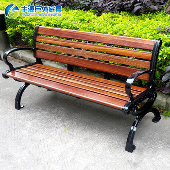 High Quality Used Outside Park Bench Cast Iron Patio Wooden Garden Seats