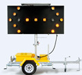 2015 OPT TMAB-C Remote Control Traffic Light With 15 Lamps Arrow Sign Board Directional LED Used Arrow Board Trailer