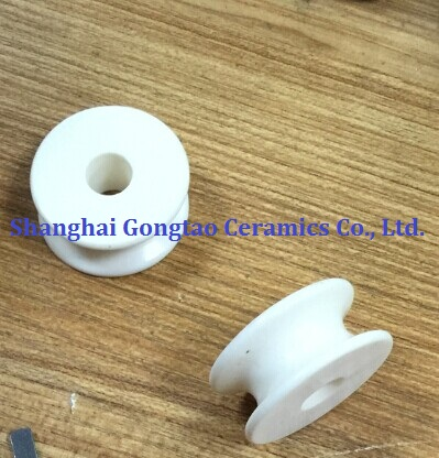 C799 Al2o3 Alumina Ceramic Yarn Guide Roller (Single Groove Rollers)