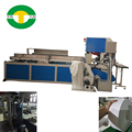 Jumbo roll toilet paper band saw cutting machine with automatic grinding