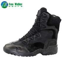 Classic black professional canvas army military jungle combat boots