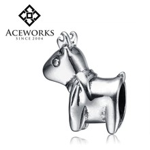 Wholesale Jewelry Cute Deer Charms For European Beads Bracelets