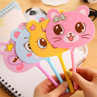 Cute cat design plastic ball pen student pen fancy children stationery low price sale
