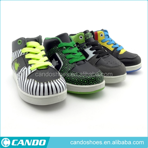 child thick sole tennis shoes kids high cut sport shoes for boy