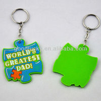 High-quality gift 3d/2d /soft pvc keychain/rubber keyring